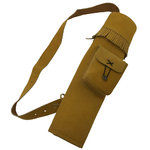 Pocketed Tan Suede Back Quiver
