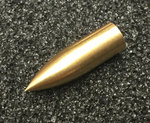 Nitro Brass Bullet Point 5/16 Taper Fit Screw-on (x12)